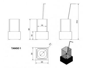 Talni eko kamin Tango 1