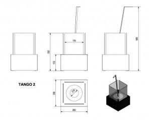 Talni eko kamin Tango 2