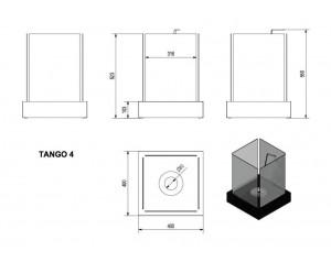 Talni eko kamin Tango 4